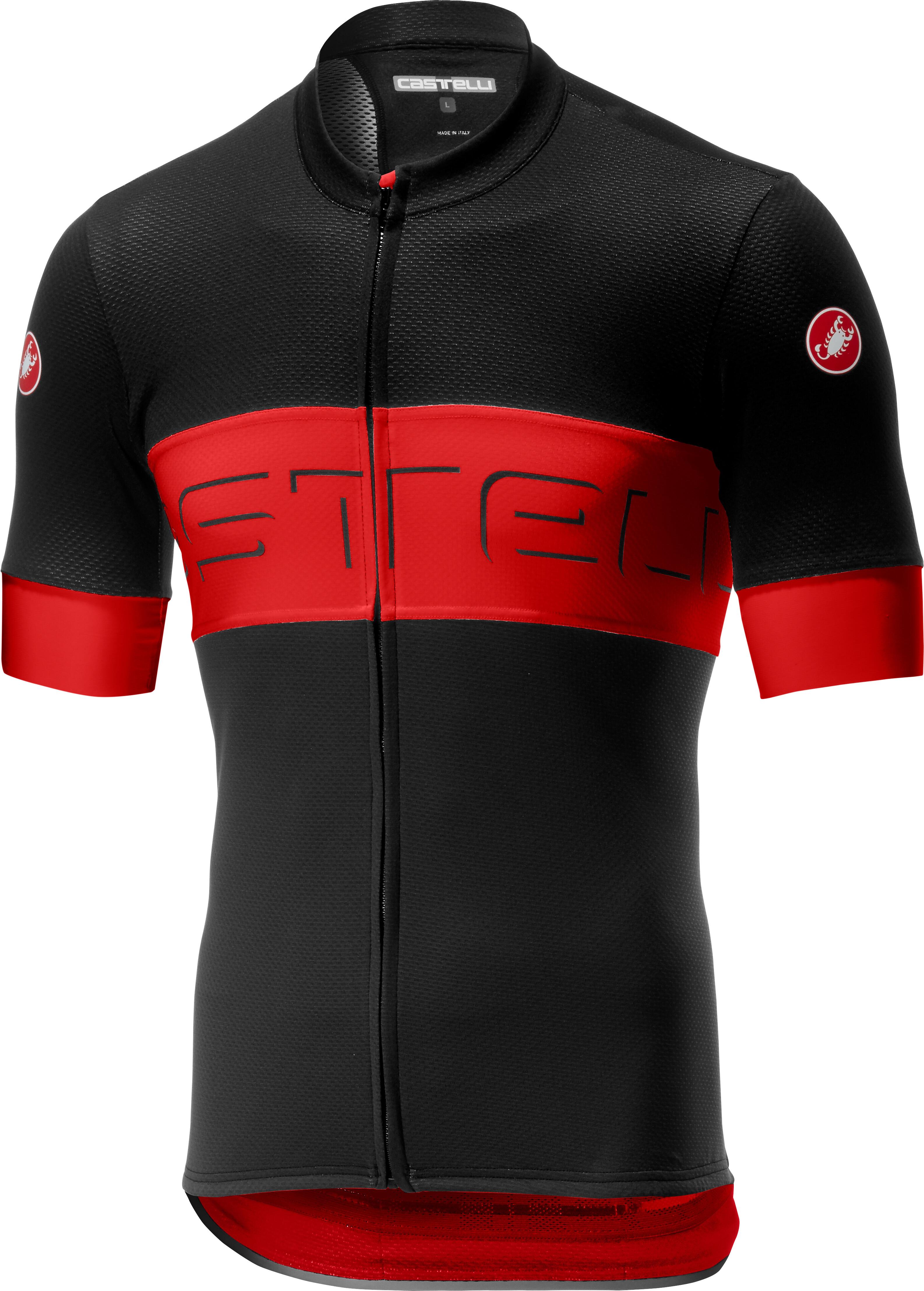 df3d178cb Castelli Prologo VI Bike Jersey Shortsleeve Men red black at ...